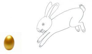 Goldenes Ei verloren - bitte helft Relli, dem Osterhasen, es wiederzufinden